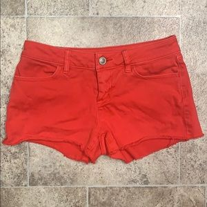 LC Red Denim Shorts